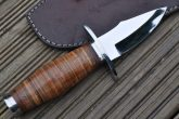 J2 Steel Hunting Knife with Leather Handle