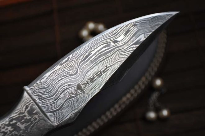 All Damascus Handcrafted Hunting Knife - Amazing Design & Very Solid