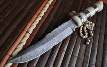 Full Tang Damascus Hunting Knife - Tactical Modern Style / Chopper