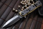 Custom Handmade All Damascus Double Folding Knife Work of Art By Mr. Koobi