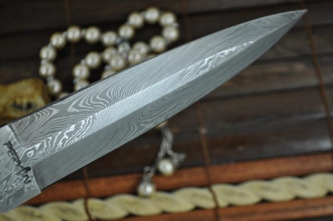 Double Edge with Bone Handle Hunting Knife