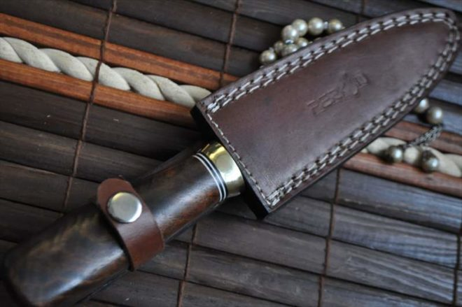 Stunning Handmade Damascus Double Edge Hunting Knife