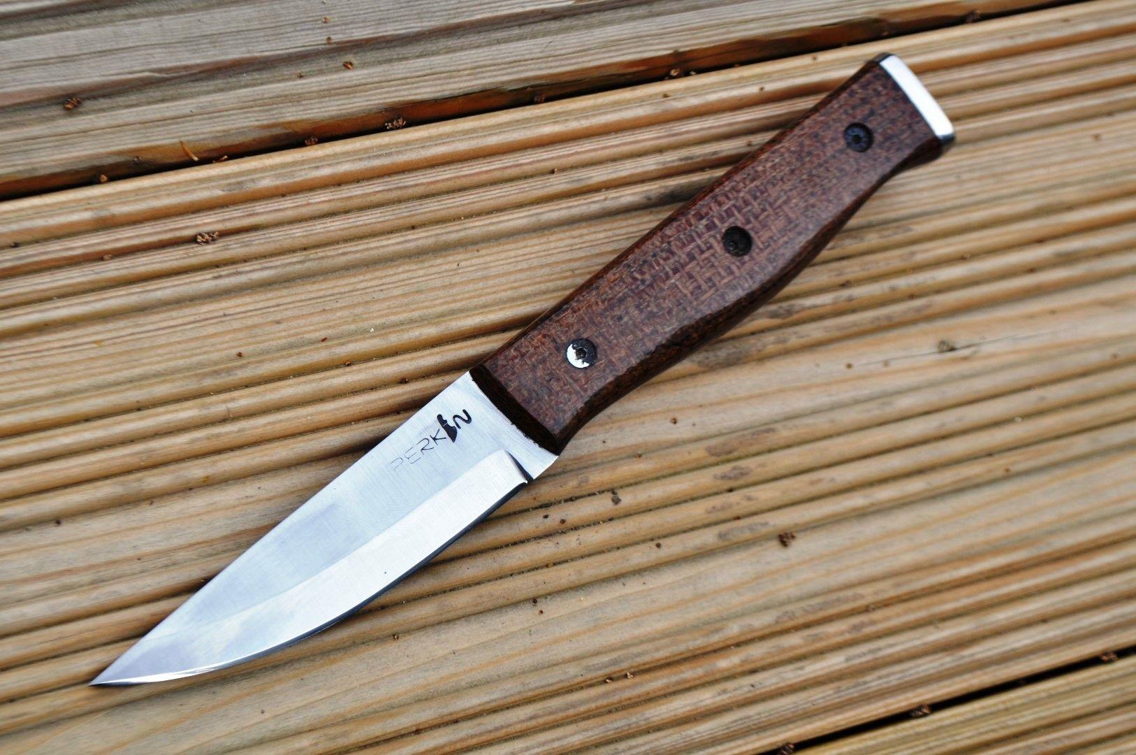 Custom Handmade Hunting/Bushcraft Knife with stunning Micarta Handle