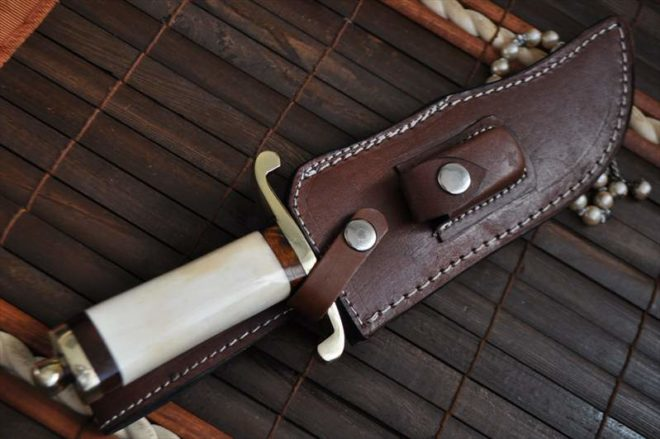 Bone Handle Collectible Fixed Blade Bowie Knife