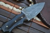 CUSTOM MADE DAMASCUS DOUBLE EDGE HUNTING KNIFE - AN ART