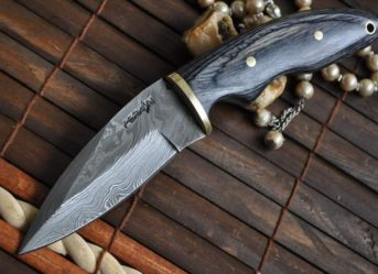 Custom Made Damascus Hunting Knife - Filipino's Style