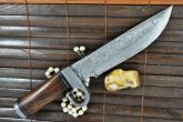CUSTOM MADE DAMASCUS HUNTING KNIFE - SURVIVAL KNIFE - PROTOTYPE