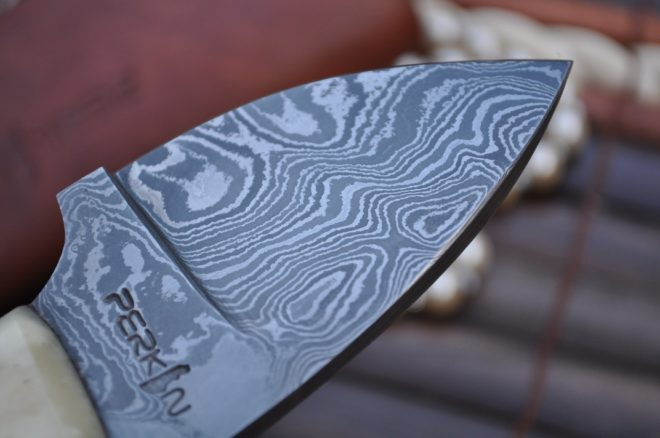 Compact Fixed Blade Damascus Knife - Neck Knife