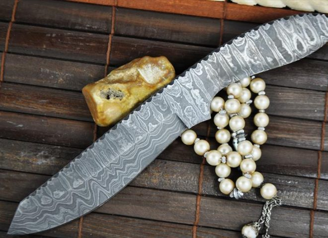 CUSTOM MADE HANDFORGED DAMASCUS BLANK BLADE-6788