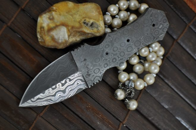 Custom Hand Forged Damascus Blank Blade - 6 Inches