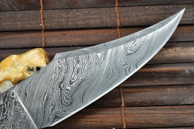 Custom Made Hand Forged Damascus Blank Blade - 11.5 Inches