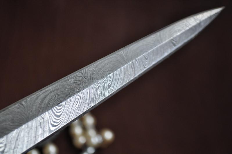 Double Edge Damascus Blank Blade  Perkin Knives