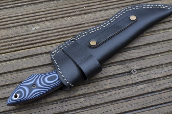 Damascus Hunting Knife with Micarta Handle