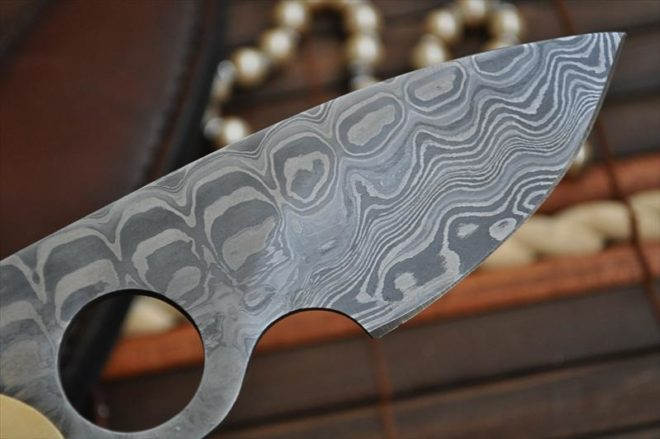 Damascus Hunting Knife - One Piece - Work Of Art