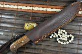 DAMASCUS HUNTING KNIFE TACTICAL STYLE MODERN BOWIE / CHOPPER FULL TANG HANDCRAFT