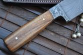 Damascus Knife - Chef's Knife Ideal for Bushcraft & Hunting