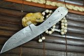 DAMASCUS STEEL BLANK BLADE FOR HUNTING KNIFE-BL4
