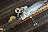 HANDCRAFTED DAMASCUS HUNTING KNIFE / BEAUTIFUL CAMPING KNIFE