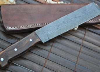 Handcrafted Damascus Knife -Chef Knife - MACHETE