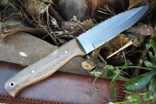 Handmade Bushcraft Knife With Fabulous Workmanship