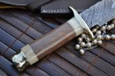 HANDMADE DAMASCUS HUNTING KNIFE - BOWIE KNIFE - OUTSTANDING VALUE