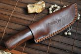 Handmade Damascus Hunting Knife with Burl Wood Handle - US-98