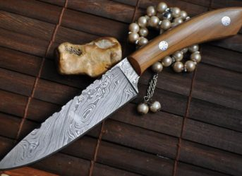 Handmade Damascus Hunting Knife - Chef's Style - WBC-105