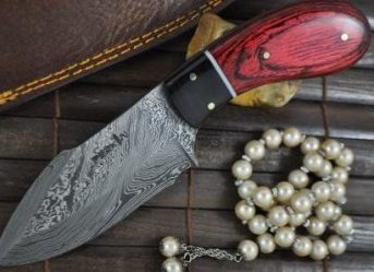 Handmade Damascus Hunting Knife - Ideal for Bushcraft & Camping - KN18S