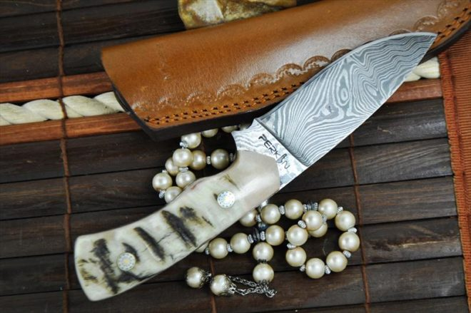 Handmade Damascus Full tang Bushcraft/Hunting Knife - WBC 100