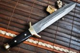 HANDMADE DAMASCUS HUNTING KNIFE MINI SOWRD DOUBLE EDGE-3420
