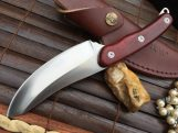 HUNTING AND BUSHCRAFT KNIFE COCOBOLO WOOD HANDLE