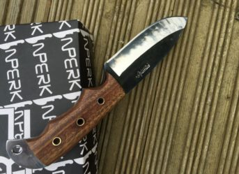 Handmade Bushcraft Knife with Leather Sheath - MCA