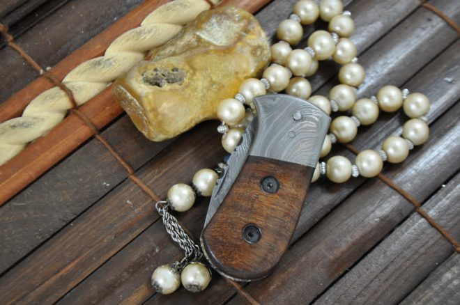 Outstanding Value - Handmade Small Damascus Pocket Knife - Legal to carry