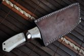 Damascus steel tracker knife with sheath