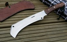 01 Carbon Steel Blade Hunting Knife with Leather Sheath
