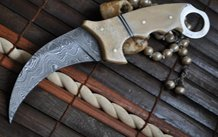 12 Inches Damascus Steel Hunting Knife - Beautiful Bowie Knife by Vicky