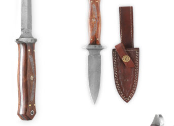 Perkin -1980 | 9 Inch Damascus Steel Knife | Fixed Blade Hunting Knife
