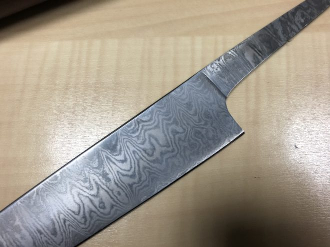 Damascus Steel Chef Knife Blade Blank