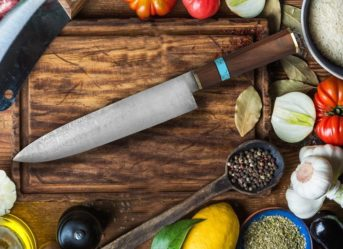 15.5 Full Tang Damascus Steel Chef Knife