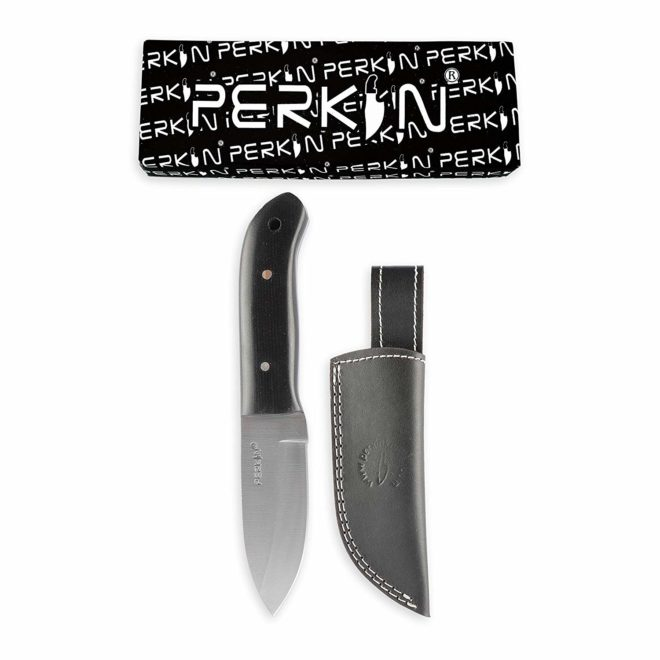 Perkin PN101 Fixed Blade Hunting Knife with Leather Sheath