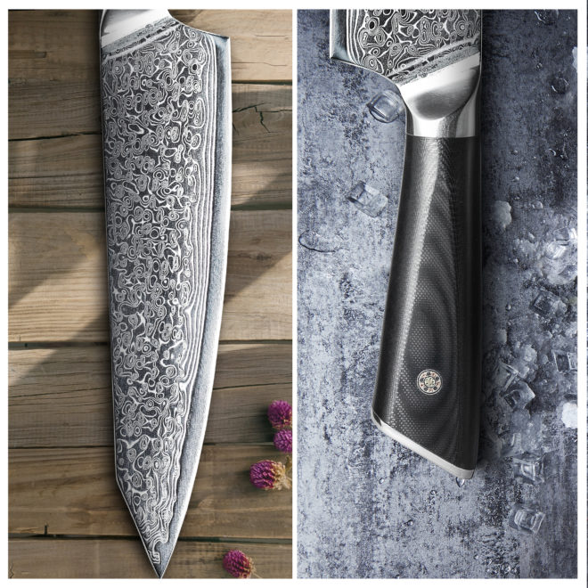 Damascus Knife Set Damascus Chef knife Professional Kitchen Knives