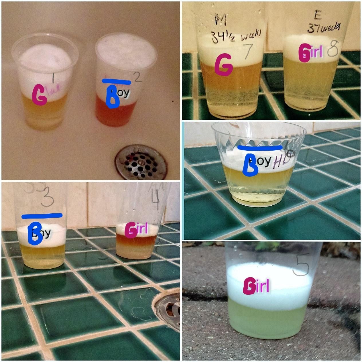 tried tested urine gender