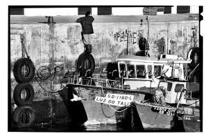 Fisherman returning from work, Sesimbra, Portugal