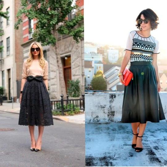 street style faldas midi