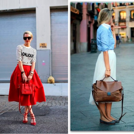 street style midi skirt