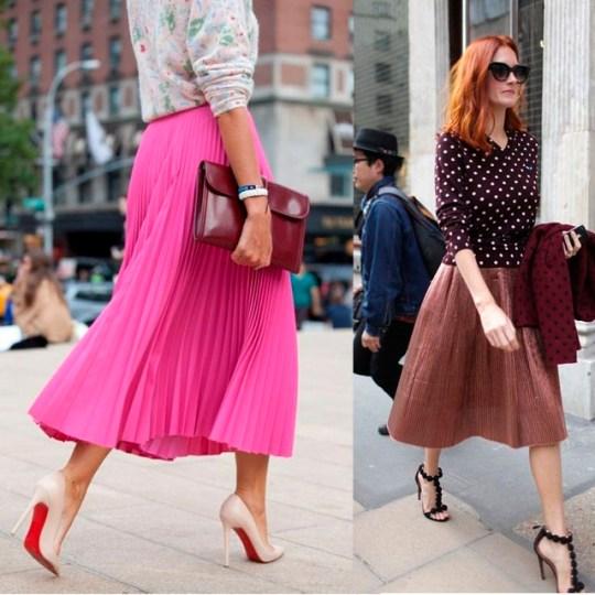 street style skirt midi