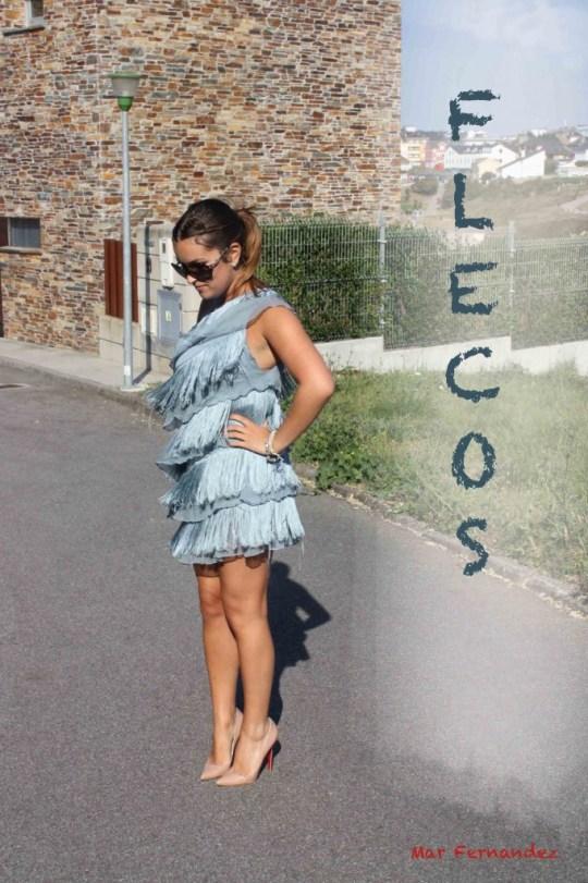 vestido flecos  blog