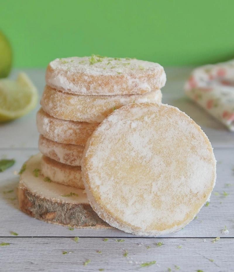 Biscuits sablés fondants au citron vert de Martha Stewart