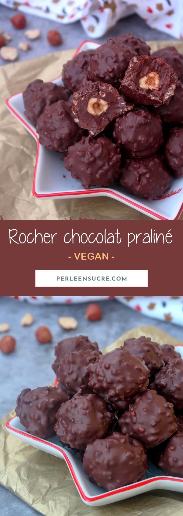 Rocher chocolat praliné {vegan}