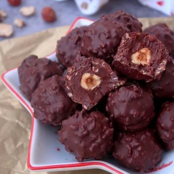 recette rocher chocolat praliné vegan